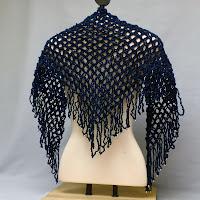 Upcycled Blue Sparkle Shawl
