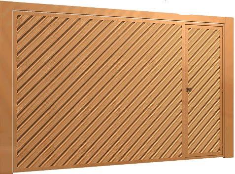Chapa de lambri em diagonal