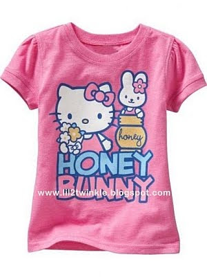 Hello Kitty Girls T-Shirts Available Colors: Lilac (18-24, 2T, 3T, 5T)