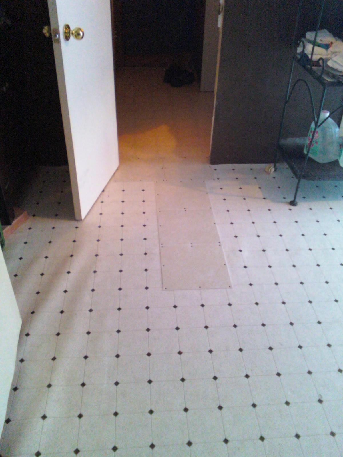 How to tile over floor tiles