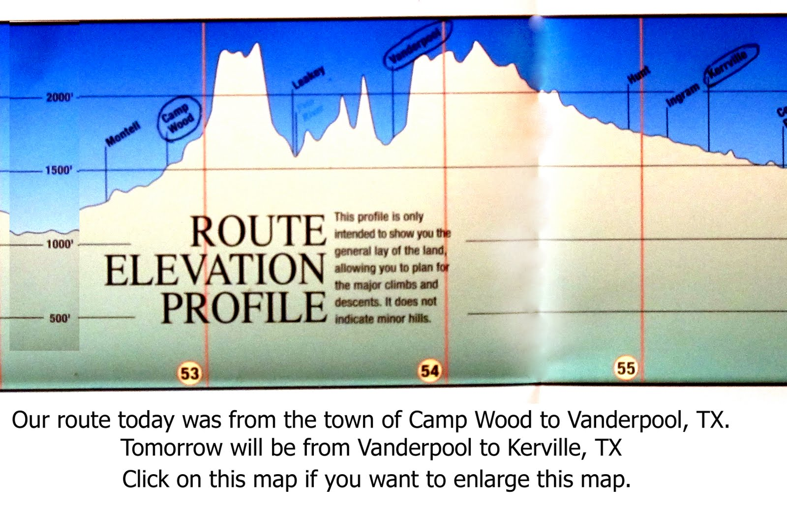 Camp Wood Az Elevation : Rita s bicycling camp wood tx to fox fire cabins