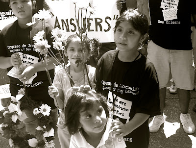 Day Laborers&#39; Children at the protest
