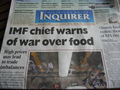 Food War Philippines