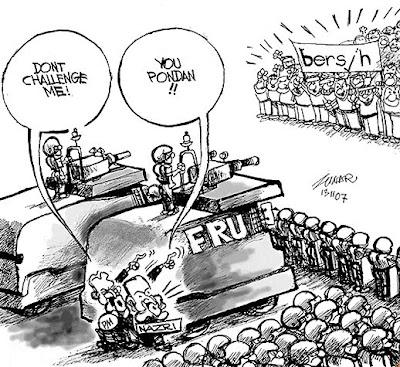 Contoh-contoh kartun yang menghina pemimpin negara dan bekas pemimpin!