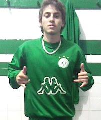 Flávio com a camisa do Verdão
