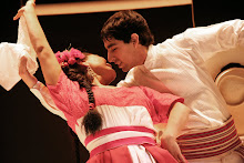 Rosa Carhuallanqui and Michael Ortiz Dancing Marinera Nortena