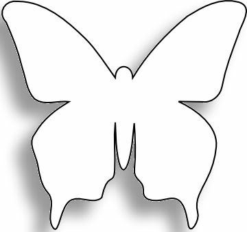 Astounding image with butterfly template printable