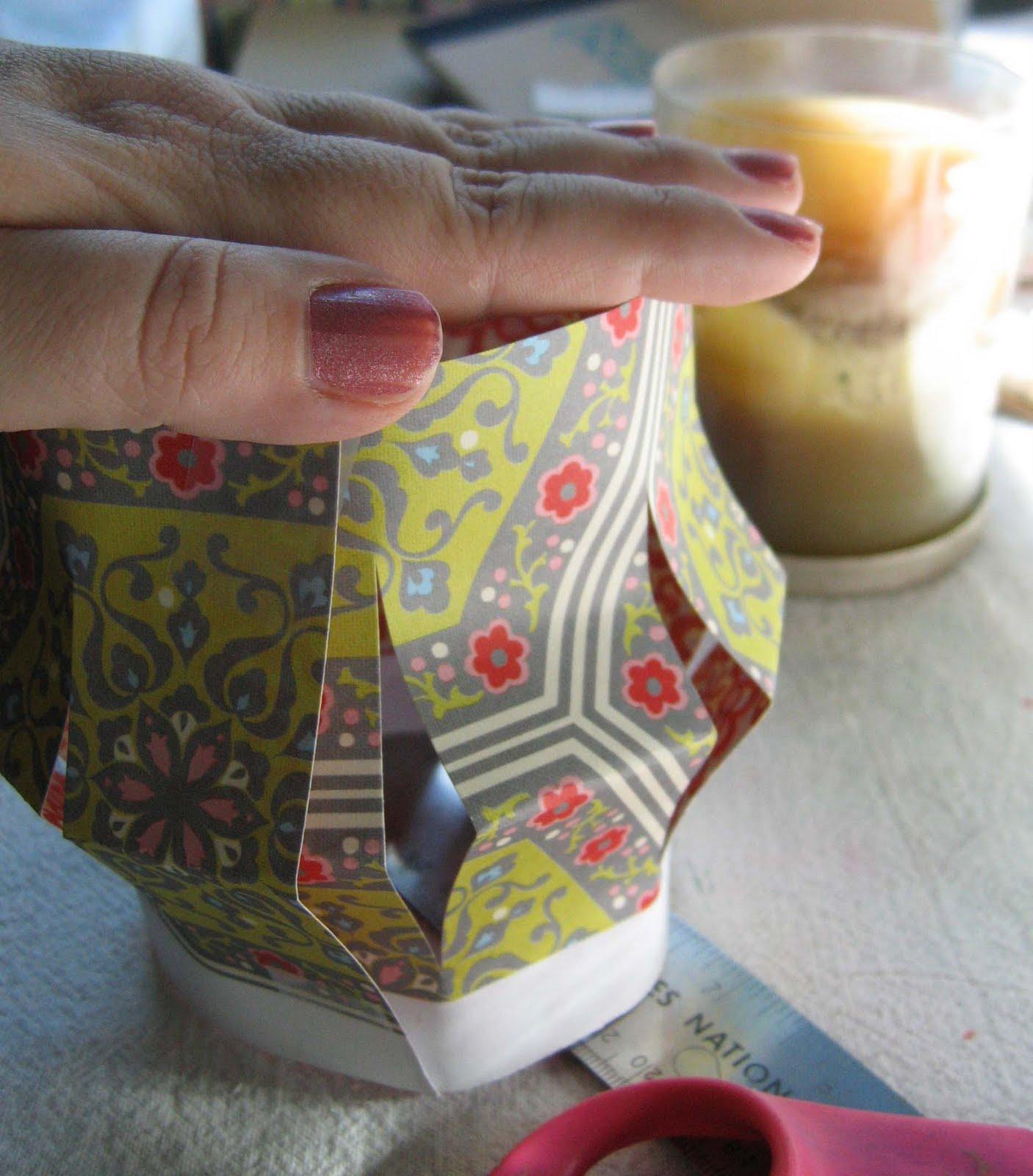 Paper lantern candle sleeve tutorial laura k bray designs for Paper lantern tutorial