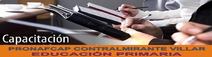 PRONAFCAP CONTRALMIRANTE VILLAR EDUCACIÓN PRIMARIA