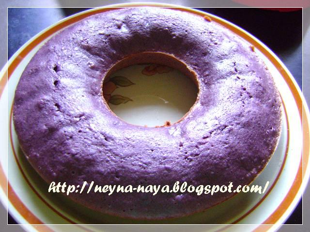 ungu ungu setelah talam ubi ungu eksperimen selanjutnya cake ubi ungu ...