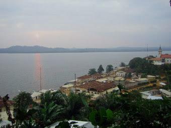vista panoramica de Kogo al anochecer