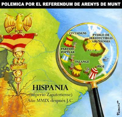 Viñeta de Franchu sobre el referendum de Arenys de Munt censurada por El Jueves