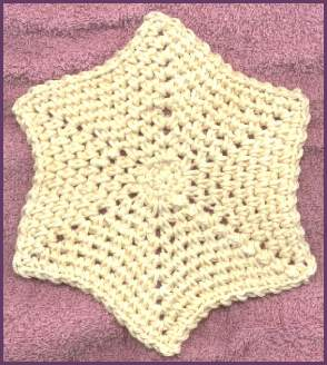 Free Crochet Star Dishcloth Pattern : Crochet Like Crazy: Star Dishcloth Pattern