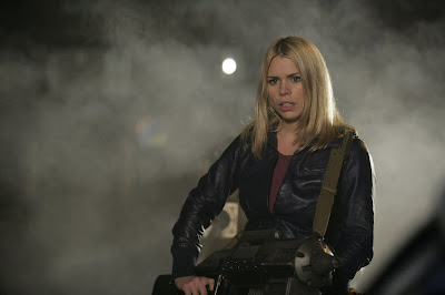 Rose is back - but what will the Doctor think about her having a gun?
