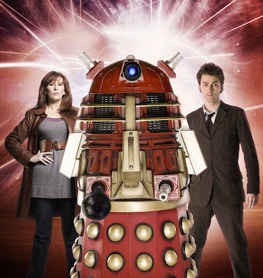 The mysterious Red Dalek, Donna and the Doctor