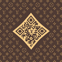 QR Louis Vuitton marron brown classique