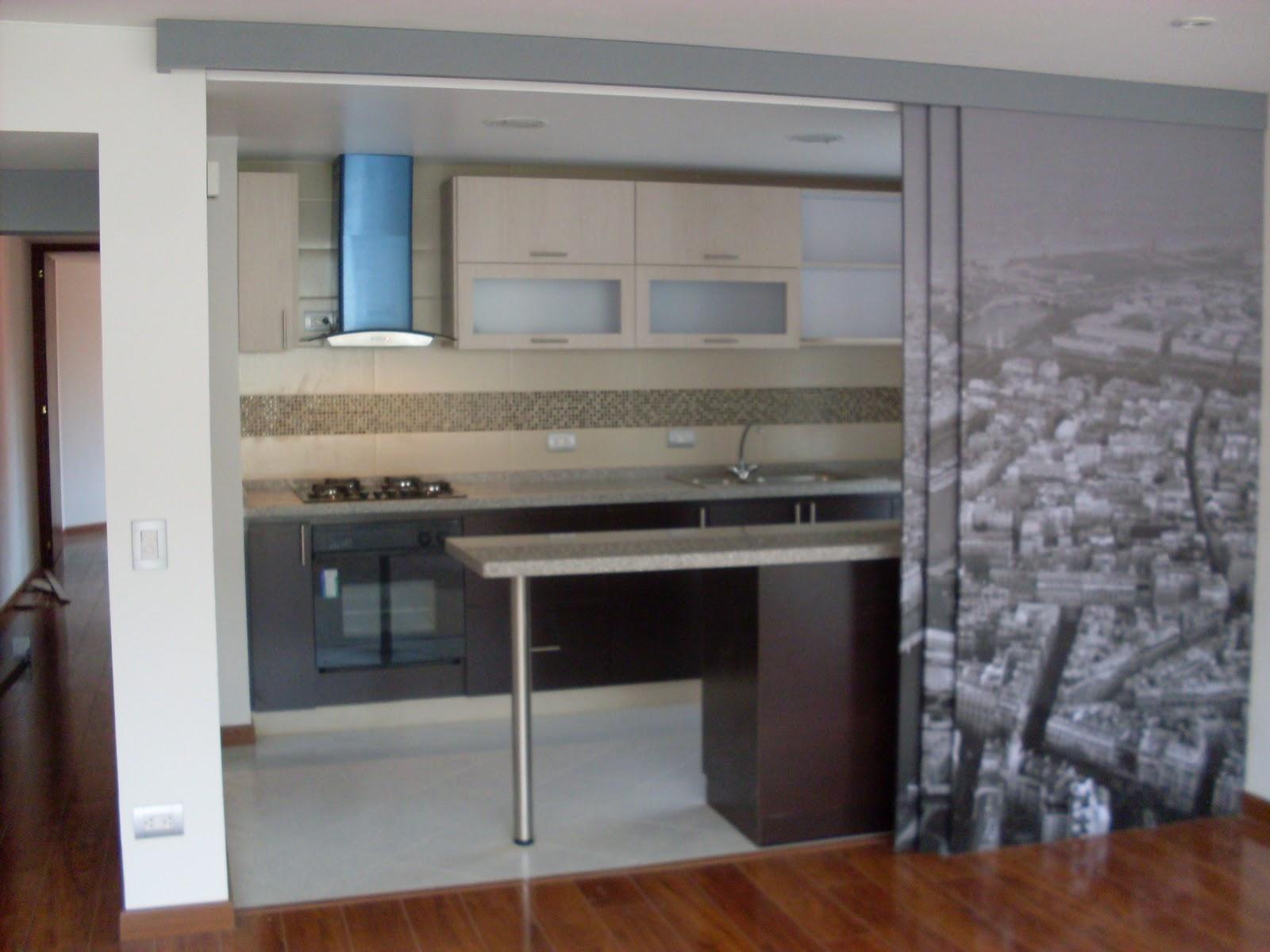 I g a cocinas y carpinteria puerta corredera con vinilo - Vinilos puertas cocina ...