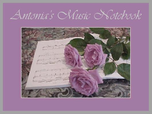 Antonia's Music Notebook