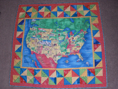 Map Quilt Tutorial Discount Designer Fabric Fabriccom US Map - Us map quilt tutorial