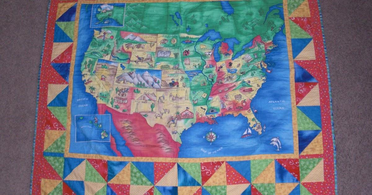 Obsessively Stitching: Flashback Friday -- U.S. Map Quilt