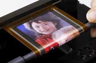Una pequeña pantalla flexible