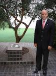 Arbol de Olivo por la Paz en Jerusalem y Palestina, plantado en Inauguración Embajada Palestina '99