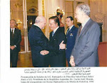 Credenciales de Suhail Akel, Primer Embajador de Palestina en Argentina,con Presidente Carlos Menem