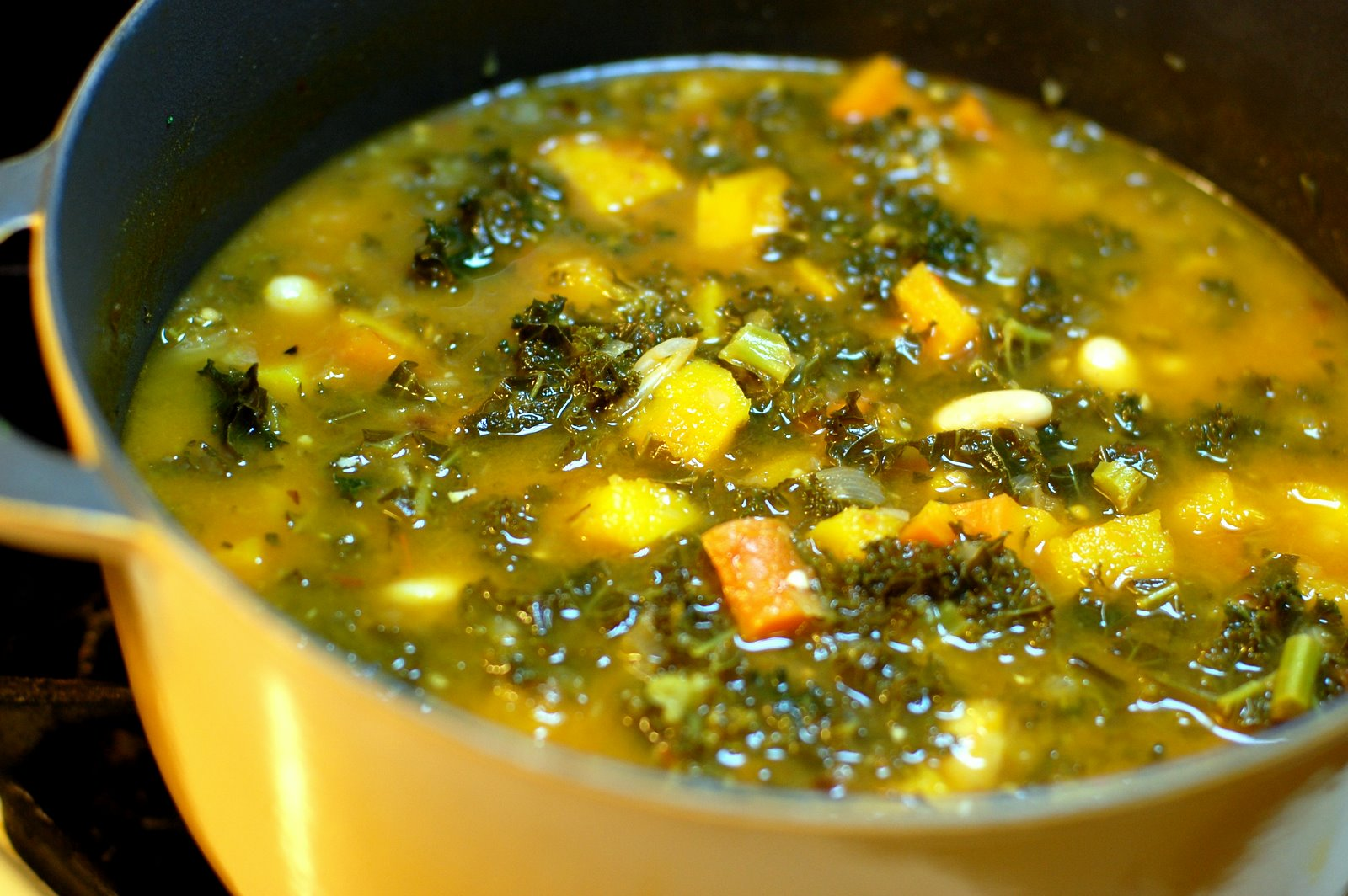 Barefoot and Baking: Kale and Roasted Vegetable Soup