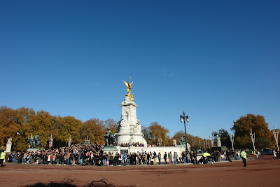The Victoria Memorial on a clear blue sky