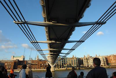 Underneath the Millenium Bridge