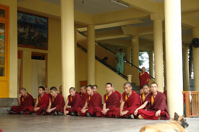 Monks in meditation