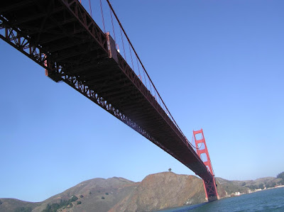 A view from under the Golden Gate