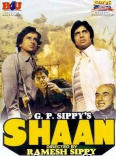 Shaan - Starring Amitabh and Shashi Kapoor (released in 1980)