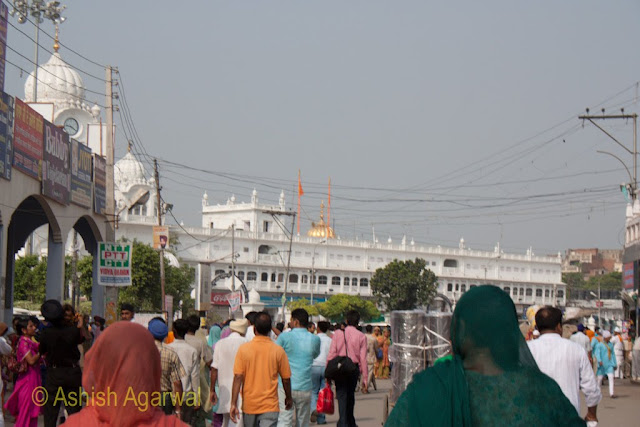 Crowds near the entrance to the Golden Temple in Amritsar