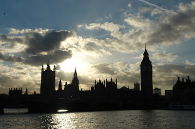 A brilliant sunset over the British Parliament