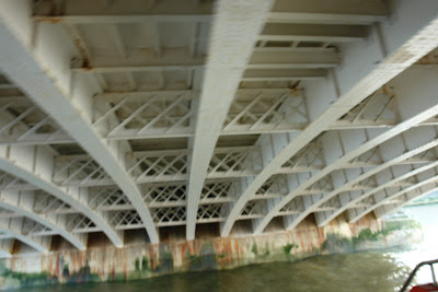 The under-side of a Bridge on the Thames in London