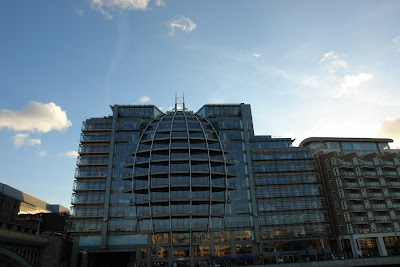 Building with an interesting shape on the banks of the Thames