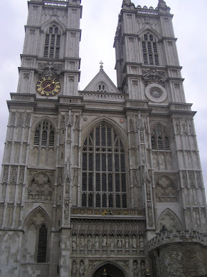 A more close-up view of Westminster Abbey