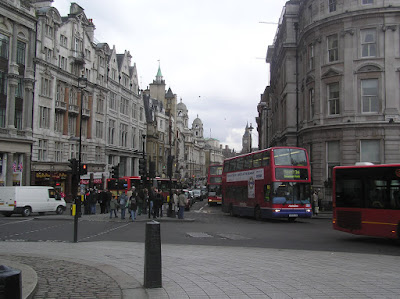 One of the side roads of Trafalgar Square