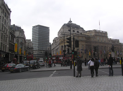 Another view of side roads around Trafalgar Square