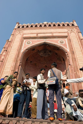 View of giant gate at Fatehpur Sikri