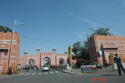 View of an entry into Jaipur's City Palace