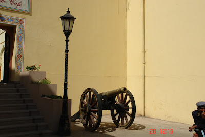 Canon located inside the Jaipur City Palace