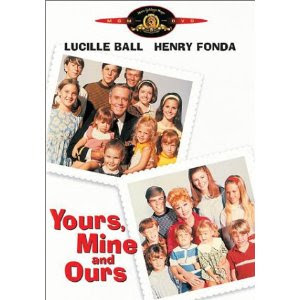 Yours, Mine and Ours (released in 1968) starring Lucille ball and Henry Fonda - romance between people with large families