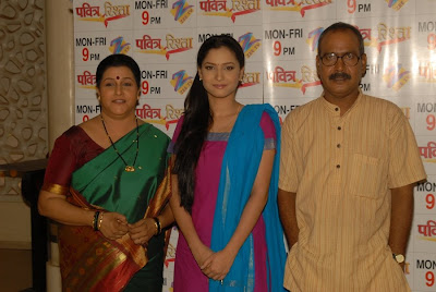 Savita Prabhune, Ankita Lokhande & Ajay Rohila in Zee TV's Pavitra Risshta (Mon-Fri @ 9 pm)
