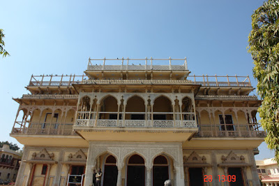 Another view of the structure inside the Jaipur City Palace