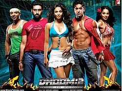 Dhoom 2 (2006) with Aishwarya Rai and Bipasha Basu as the hot female leads along with Abhishek Bachchan, Hrithik Roshan, and Uday Chopra