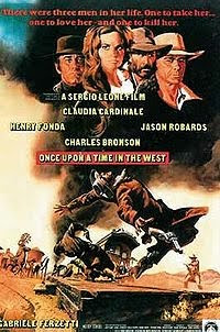 Once Upon a Time in the West (1968) starring Henry Fonda, Charles Bronson, and directed by Sergio Leone