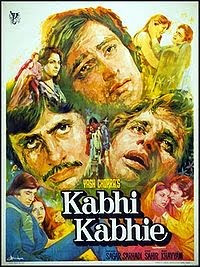 Kabhi Kabhie, released in 1976, directed by Yash Chopra, and starring Waheeda Rehman, Shashi Kapoor, Amitabh Bachchan, Raakhee Gulzar, Neetu Singh and Rishi Kapoor