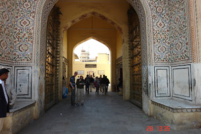 Photo: A series of doors inside the Jaipur City Palace